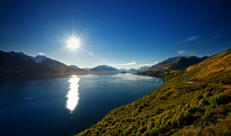 горы, озеро, новая, zealand, new, небо, природа, wakatipu, лес,