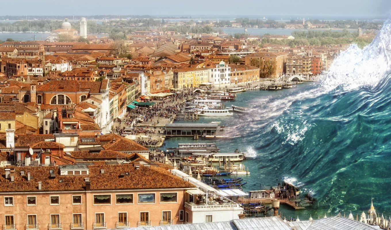венеция, италия, tsunami, фантастика, hdr, desktop, картинок, имеет, модель, sanchez, zu, una, que,