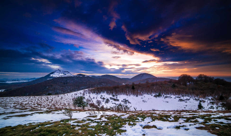 winter, download, desktop, mountains, moole, steppe, горы, sunset,