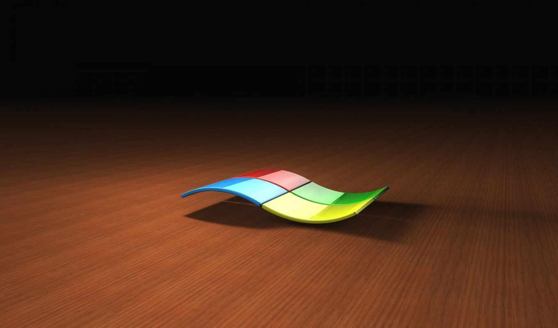 windows, XP, logo, wood