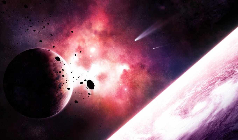 кометы, космос, planet, nebula, спутник,