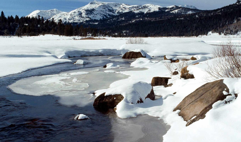 california, part, photos, snow, winter, wide, eldorado, valley, forest, изображение, river, national, frozen, ice, hope,