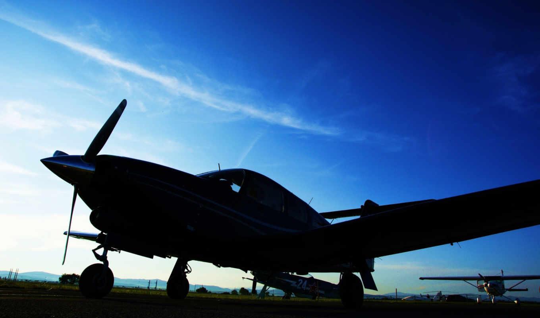 авиация, sky, aircraft, самолеты, plane, blue, техника, изображение, вечер, аэропорты,
