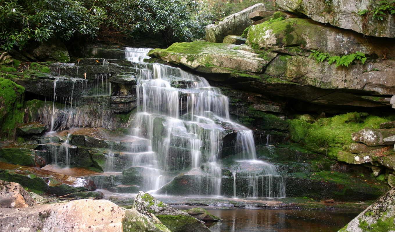 falls, водопады, водопад, blackwater, природа, elakala, часть, каньон, west, virginia, пейзажи -,
