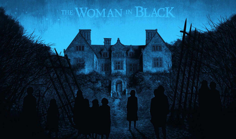 женщина, черном, сниматься,