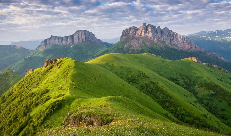горы, фото, холмы, new, best, photos, зеленые, юрий, небо, шевченко,