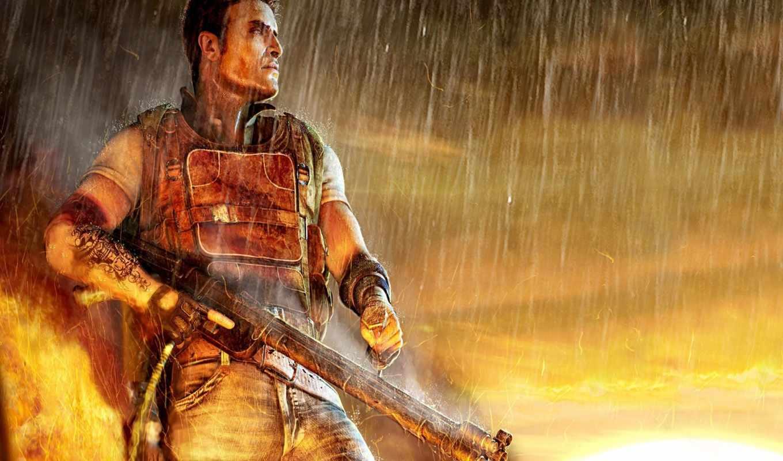 far, cry, игры, воин, африка, война, games, картинка, огонь, дождь, desktop,