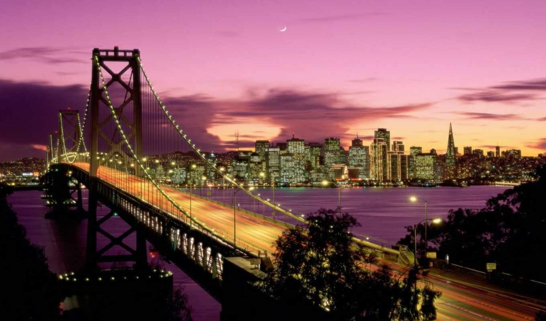 мост, francisco, bay, san, города, июнь, которые, город,