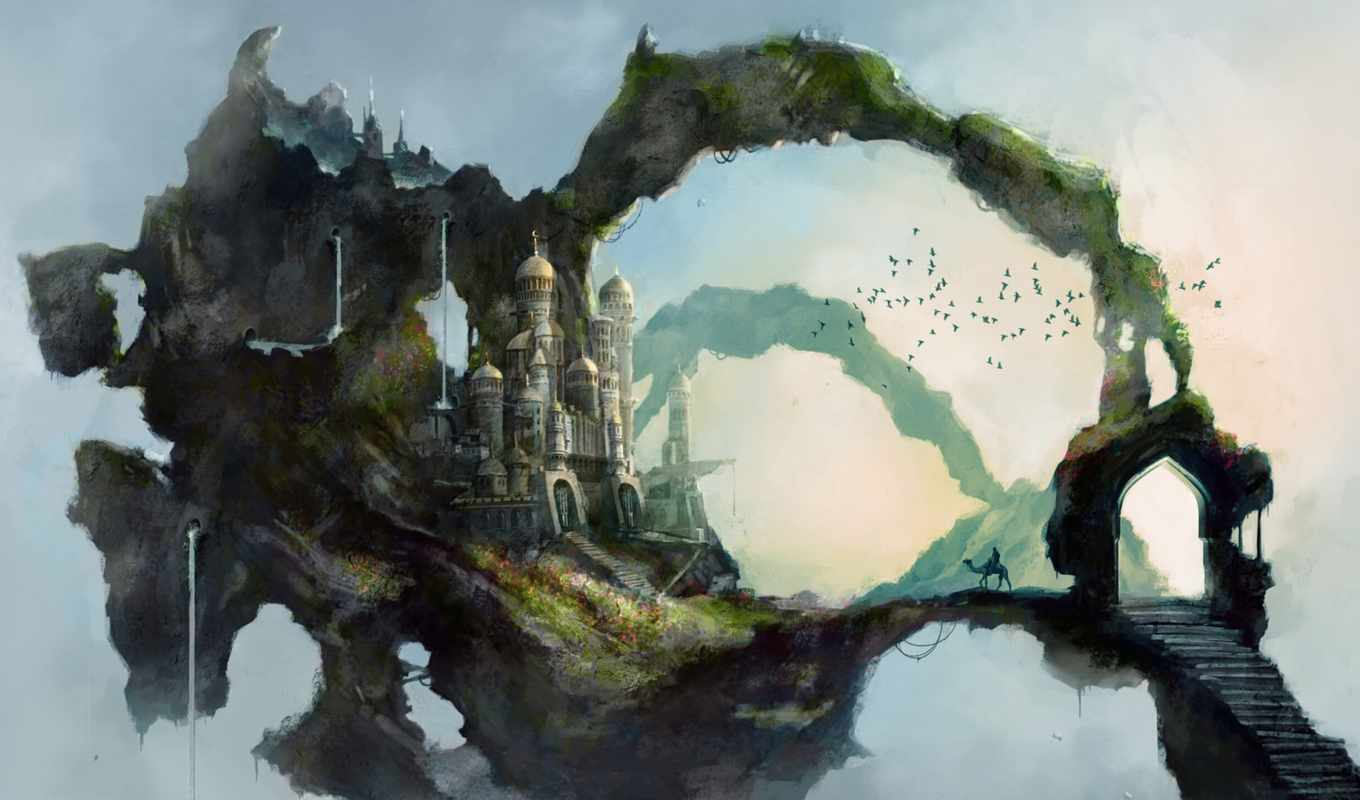 fantasy, art, landscapes, paintings, drawings, landscape, illustrations, more,
