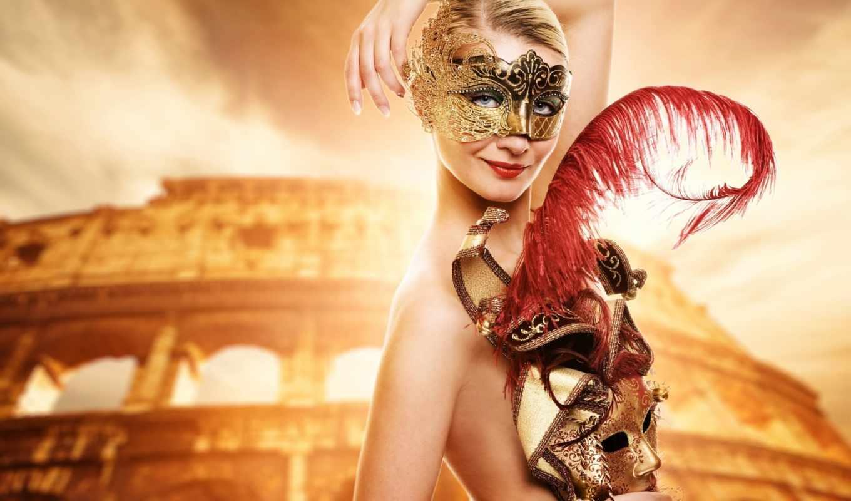 devushka, клипарт, растровый, маской, маске, карнавальной, молодая, мб,