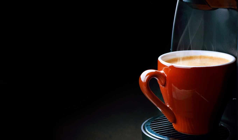 coffee, cup, steam, пенка, машина, espresso,