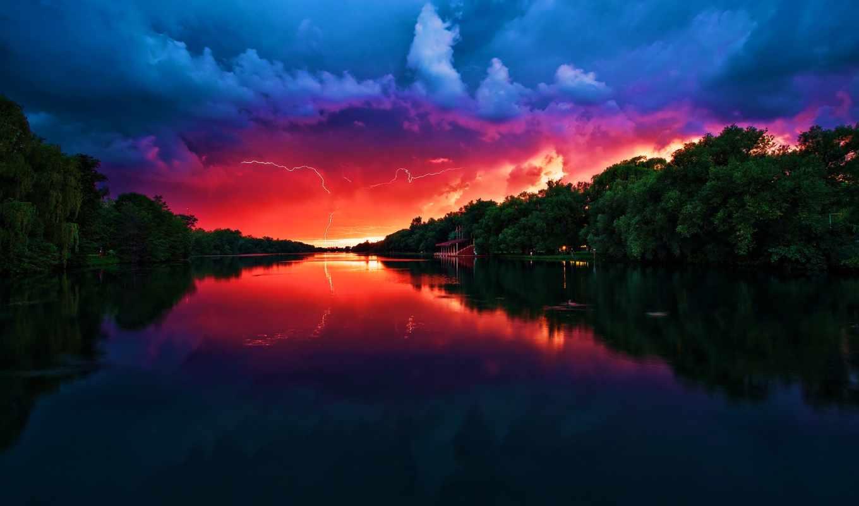 картинка, park, falls, река, лес, бирюзовый, full, adventure, красивые, great,