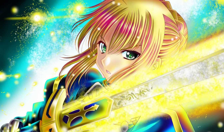 fate, ночь, stay, saber, excalibur, anime, zero, pendragon, amino, pinterest,