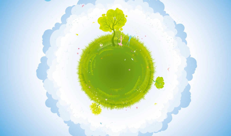 earth, green, art, space,