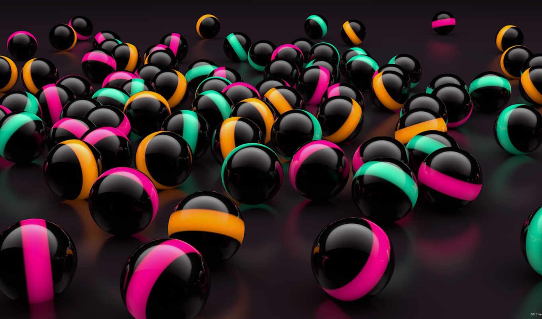 spheres, random,