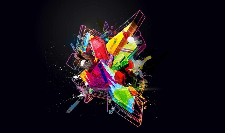 desktop, art, черный, nokia, blue, designs, lumia, цвет, kokainka, abstract, комок, линии, фигуры, multicolor, splash, digital,
