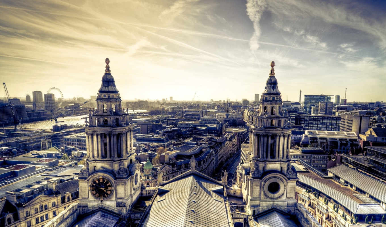 здания, город, дома, панорама, architecture, небо,