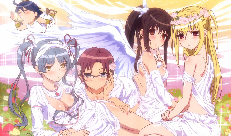 maria, holic, anime, kanako, glasses, series, miyamae, yuzuru, inamori, shinouji, angels, matsurika, mariya,