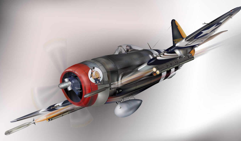 ,p-47, thunderbolt,истрибитель, бомба,