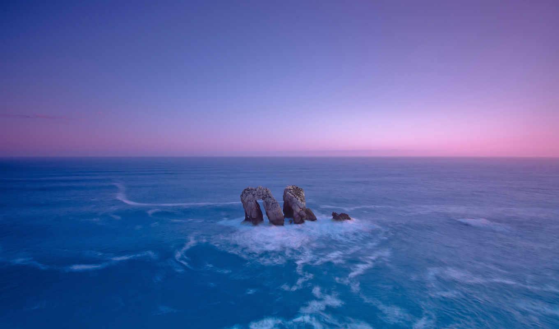 море, небо, cliff,