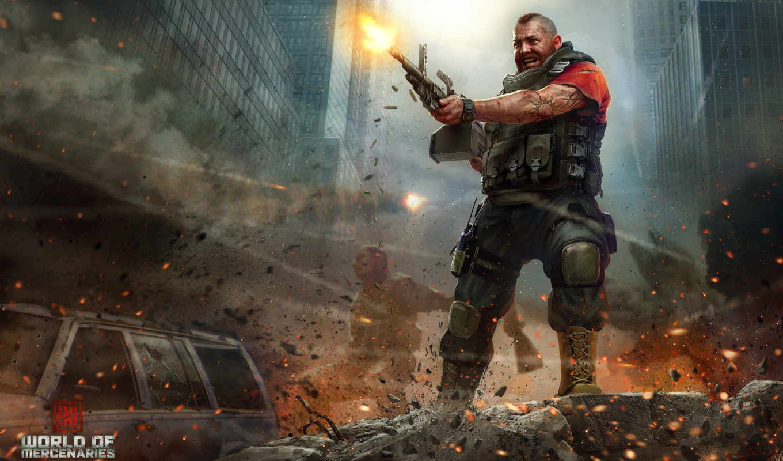 world, mercenaries, interactive, город, fps, shooter, unreal, engine,