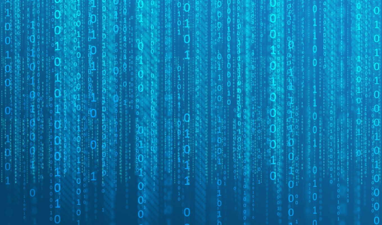 цифры, матрицы, blue, effect, код, матрица,