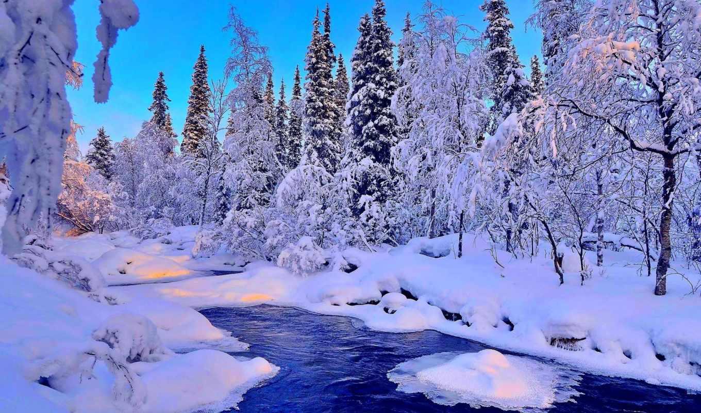 winter, снег, красавица, живые, зимние, пейзажи -, sekilleri, landscape,