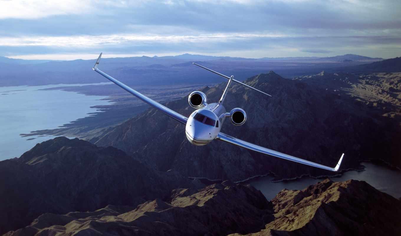 самолеты, самолёт, небе, природа, пассажирский, авиация, широкоформатные, gulfstream, небо, уже,