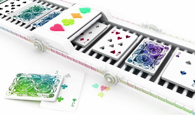 карты, игральные, card, conveyor, cards, belt,
