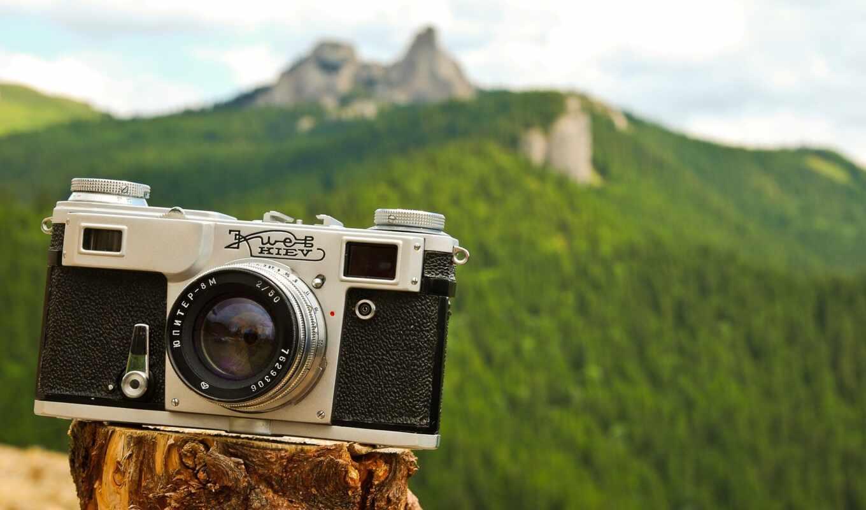 фотоаппарат, экран, зелёный, объектив, line