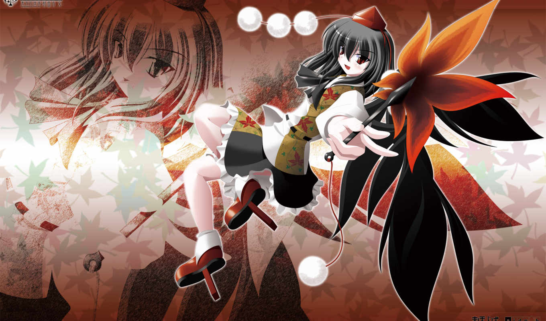 anime, black, eyes, hair, hat, red,