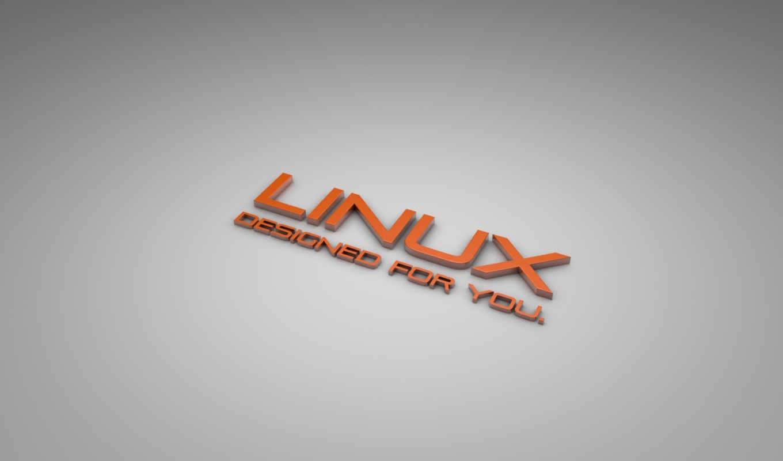 linux, серый, оранжевый, надпись,