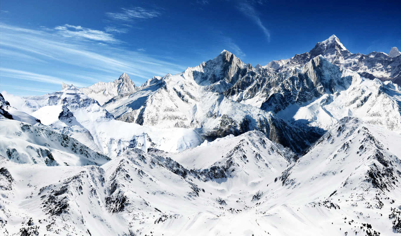 mountains, snow, mountain, tapety, snowy, desktop, download, winter, free, горы, landscapes, resolution, high,