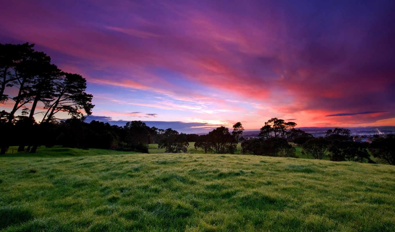 nature, sunset, widescreen, sky,