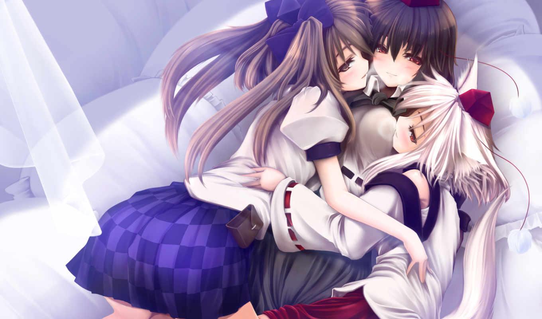 aya, touhou, anime, shameimaru, momiji, inubashiri, himekaidou, hatate, similar, hair, постель,