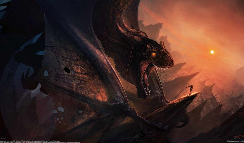 grivet, bastien, драконы, фэнтези, art,