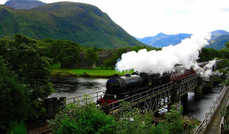hogwarts, express, река, горы, поезд, поттер, gary,