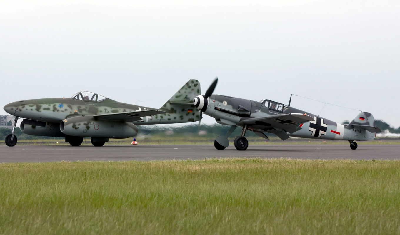messerschmitt, самолёт, военный,