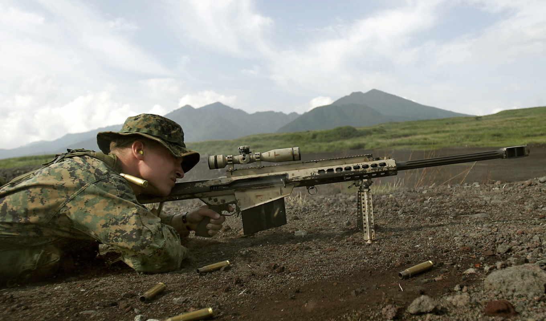 снайпер, прицел, винтовка, картинка, картинку, barrett, гор, фоне, так,