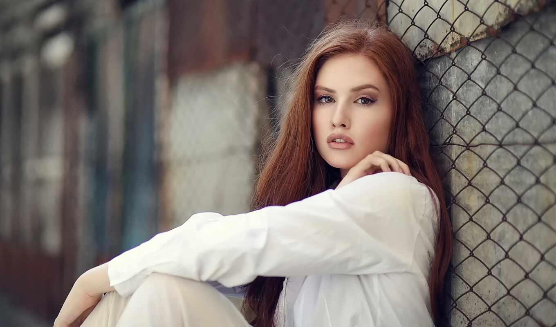 девушка, сетка, sit, макияж, взгляд, забор, ди, cicco, ржавчина, платье, глаза