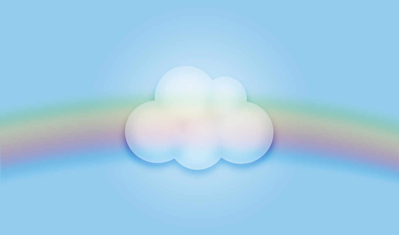облако, радуга, туча, картинка,