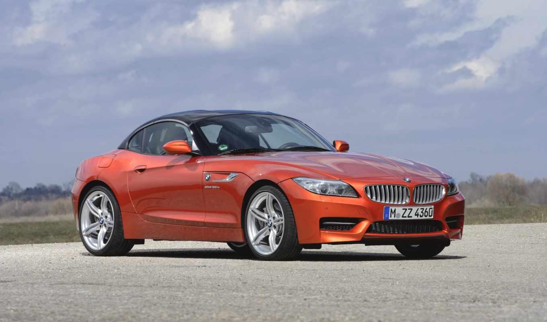 bmw, автомобили, оранжевый,