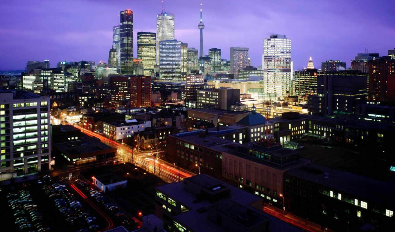 онтарио, канада, toronto, город, канады, skyline,