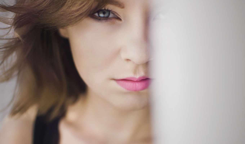 девушка, pack, lips, глаза, half, розовый,