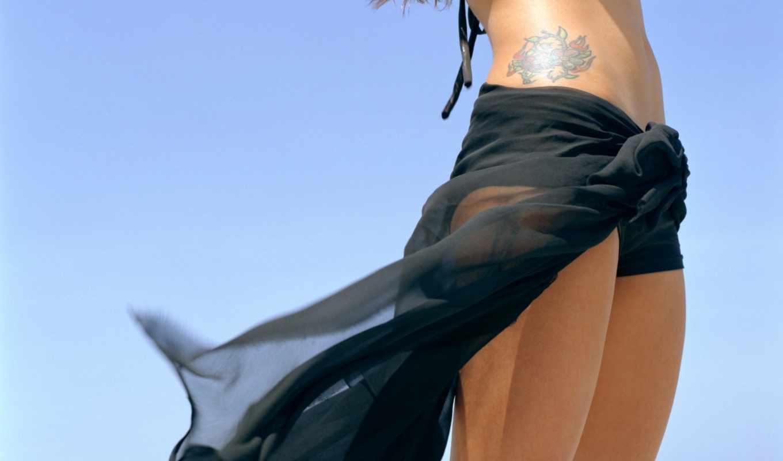 девушка, ноги, татуировка, хип,