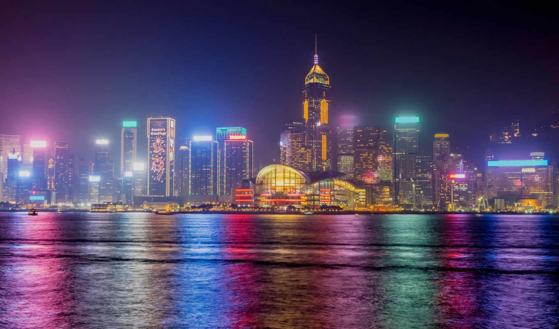 Гонконг, Китай, Дома, Небоскребы,