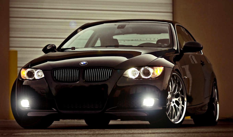 bmw, black, glare,