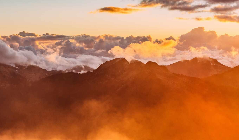 облако, песнь, kasual, alternative, nasa, гора, отображаться, закат, smodelirovat, оформление