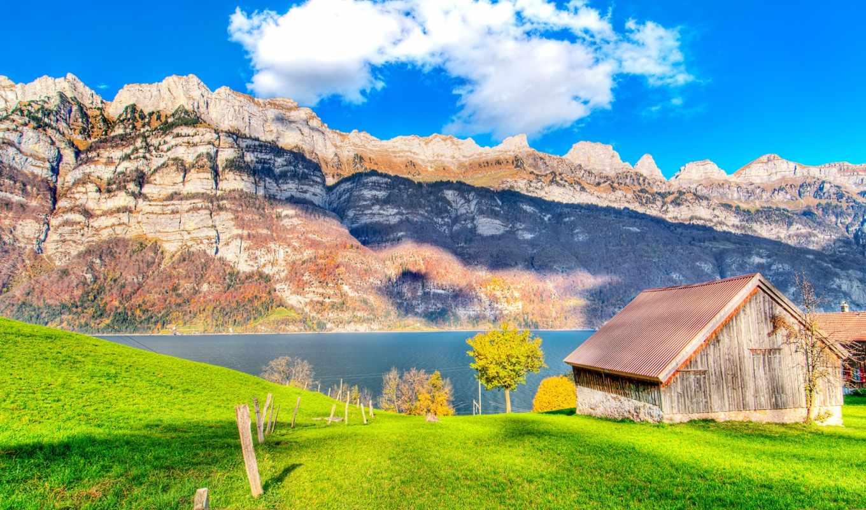 house, озера, озеро, горы, природа, горах,