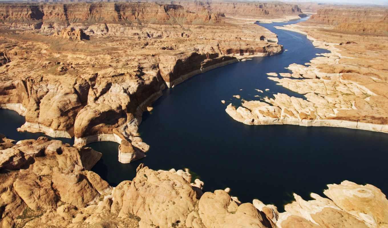 desierto, del, río, cañón, ríos, que, paisaje, marte,
